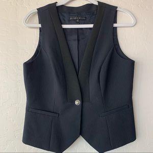 Antonio Melani Blue Black Pin Stripe Vest Size 8